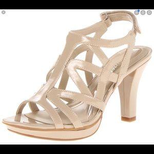 Naturalizer Danya dress heeled sandals nude 9N
